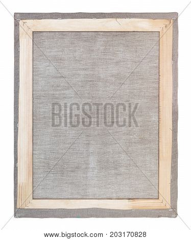 Reverse Side Of Wood Frame With Stretched Canvas