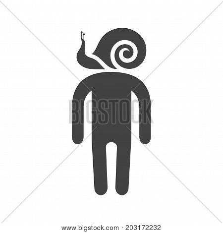 Sluggish, tired, exhausted icon vector image. Can also be used for Personality Traits. Suitable for web apps, mobile apps and print media.