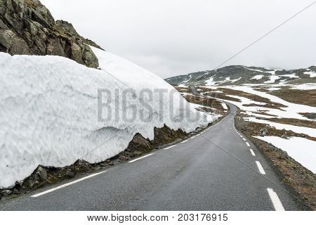 Famous Aurlandsvegen mountain road