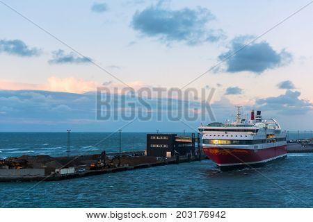 Cruise ferry from Hirtshal