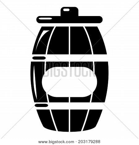 Honey barrel icon . Simple illustration of honey barrel vector icon for web design isolated on white background