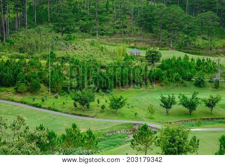 Mountain Scenery In Dalat, Vietnam