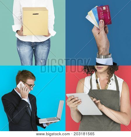 People Business Investment Merchandise Studio Collage