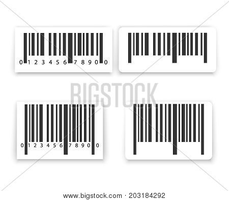 Barcode label set vector. retail vector illustration