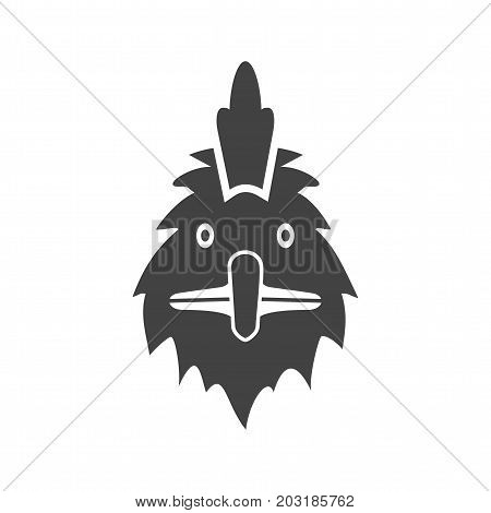 Hen, chicken, poultry icon vector image. Can also be used for Animal Faces. Suitable for mobile apps, web apps and print media.