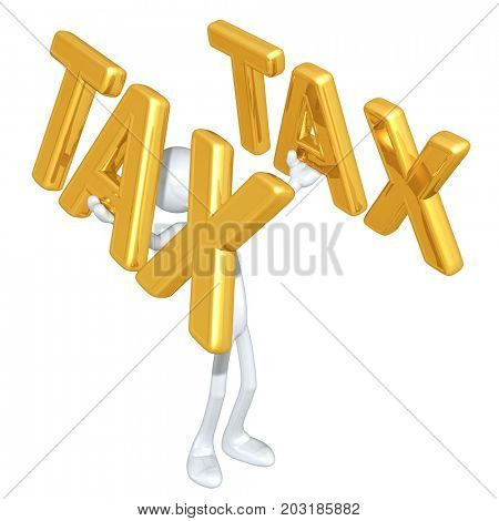 Lifting Tax The Original 3D Character Illustration