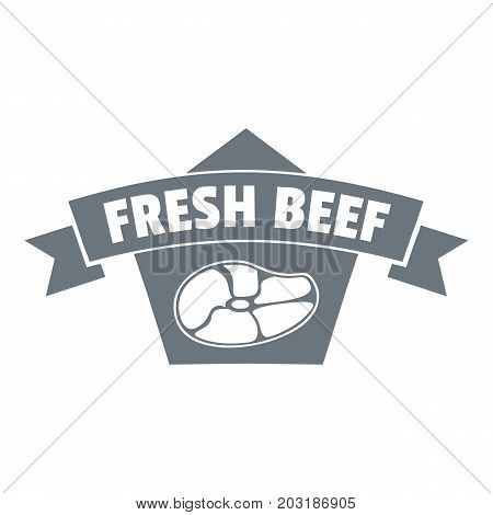 Fresh eco beef logo. Simple illustration of fresh eco beef vector logo for web design isolated on white background