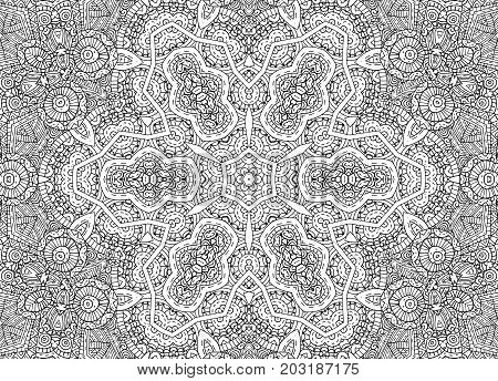 Black and white graphics with abstract concentric outline pattern