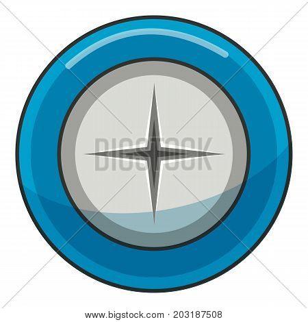 Microprocessor chips icon. Cartoon illustration of microprocessor chips vector icon for web