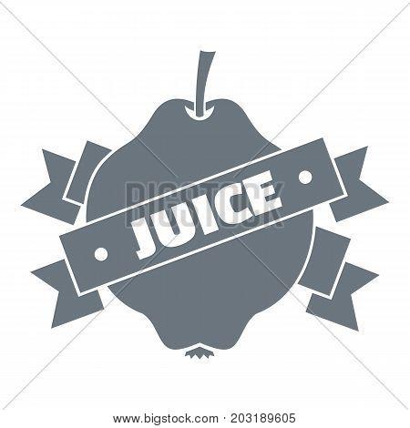 Fruit juice logo. Simple illustration of fruit juice vector logo for web design isolated on white background