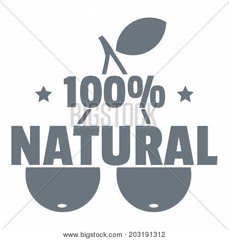 100 percent natural logo. Simple illustration of 100 percent natural vector logo for web design isolated on white background