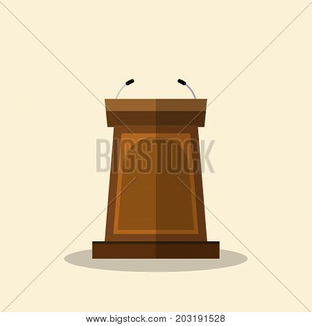 Podium Tribune vector icon isolated on white background flat graphic design-Vector Illustration.