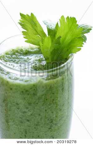 green vegetable smoothie poster