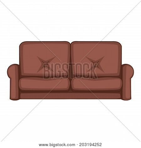 Sofa icon. Cartoon illustration of sofa vector icon for web
