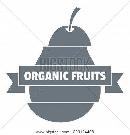 Bio organic fruits logo. Simple illustration of bio organic fruits vector logo for web design isolated on white background