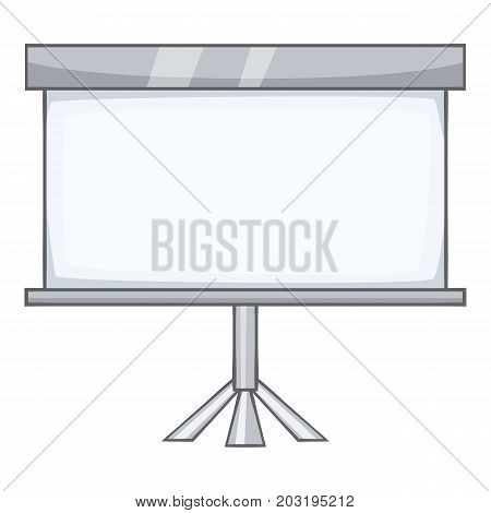 Projection screen icon. Cartoon illustration of projection screen vector icon for web