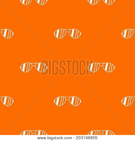 Glasses pattern repeat seamless in orange color for any design. Vector geometric illustration