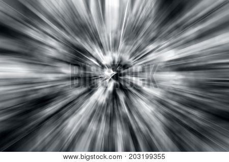Dried Wild Weeds Of Soil Shot With Motion Blur Effect