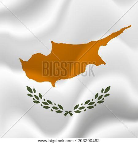 Cyprus waving flag. Waving flag. Vector illustration.