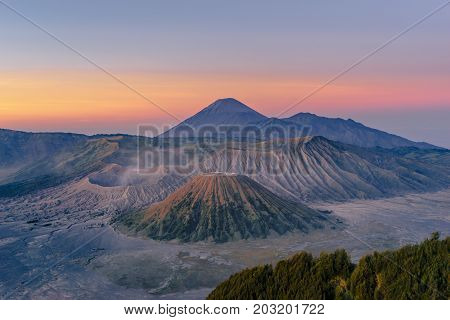 Mt. Bromo crater at Bromo tengger semaru national park East java Indonasia