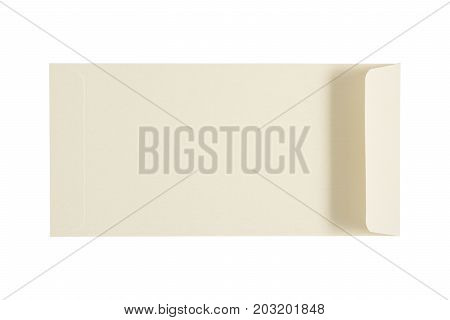 White Pearl Envelope Isolated On A White Background. Clipping Paths Included.