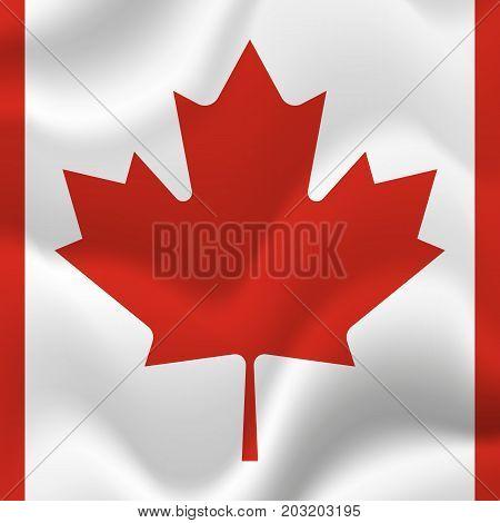 Canada waving flag. Waving flag. Vector illustration.