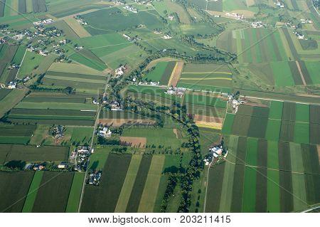 Farmland Aerial View
