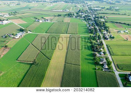 Patchwork Farmland Aerial