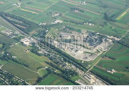 Stone Quarry From Above