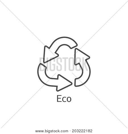 Eco Frendly Concept Arrows Icon. Ecology Recycling Symbol.