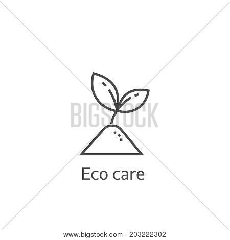 Sprout Eco Care Thin Line Icon