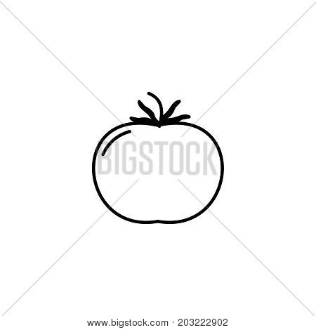 Tomato Thin Line Icon. Isolated Vegetables Linear Style For Menu, Label, Logo. Simple Vegetarian Foo