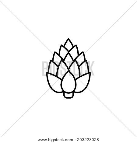 Artichoke Thin Line Icon. Isolated Vegetables Linear Style For Menu, Label, Logo. Simple Vegetarian
