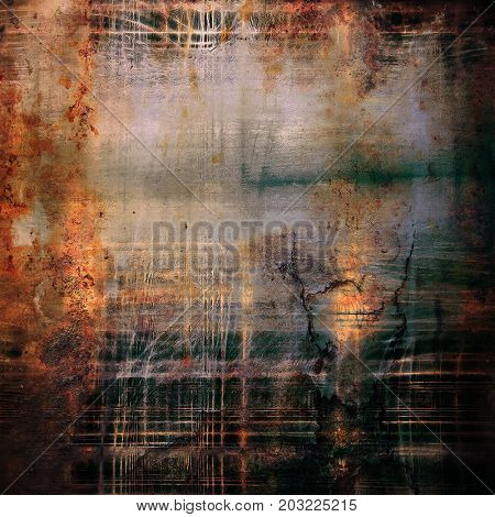 Vintage background in scrap-booking style, faded grunge texture with different color patterns