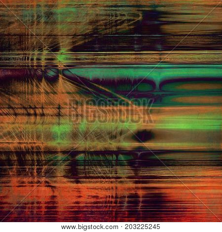 Retro vintage style elements on aged grunge texture. With different color patterns