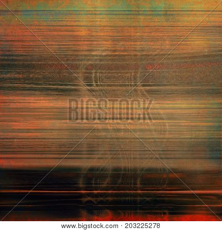 Abstract faded retro background or shabby texture with vintage style design and different cor patterns:
