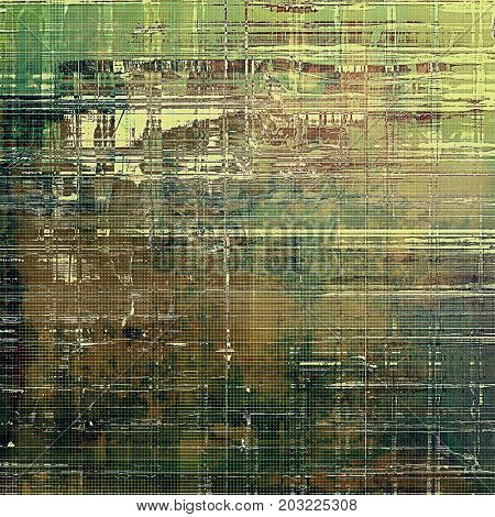 Abstract scratched background or frame with weathered grunge texture. Ancient style backdrop with different color patterns
