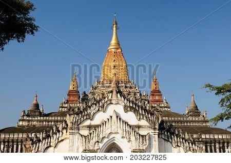 Ananda Pahto Temple in Myanmar (Burma). Old Bagan