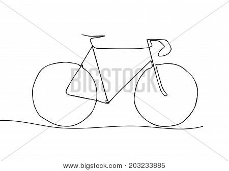 One Line Drawing or Continuous Line Art of a Bicycle Athlete. Vector Illustration