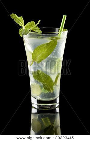 Mojito isolated on a black background