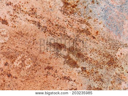 The rusted and corroded on metal background.