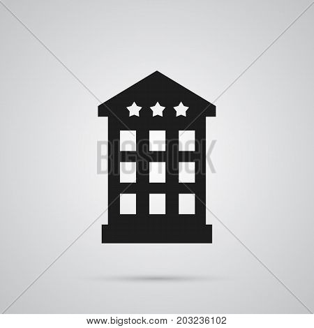Vector Inn Element In Trendy Style.  Isolated Hotel Icon Symbol On Clean Background.
