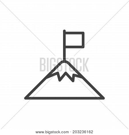 Vector Success Element In Trendy Style.  Isolated Achievement Outline Symbol On Clean Background.