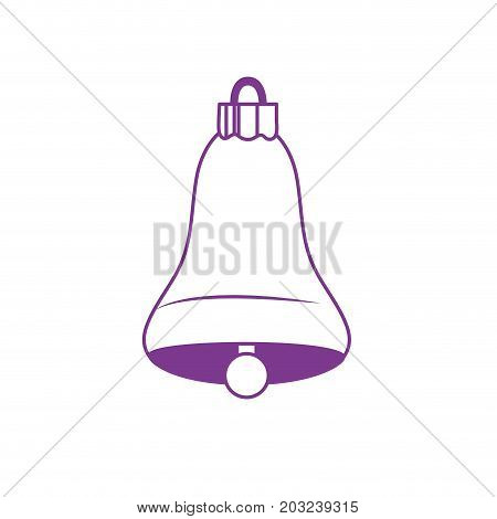 silhouette bell decoration design and alert sound vector illustration
