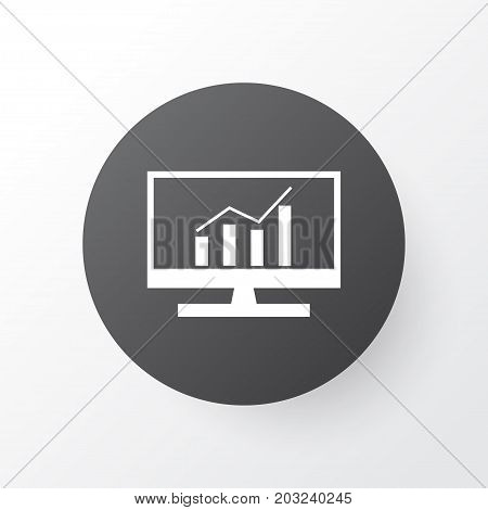 Premium Quality Isolated Market Research Element In Trendy Style.  Comprehensive Analytics Icon Symbol.
