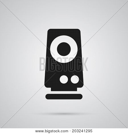 Vector Amplifier Element In Trendy Style.  Isolated Speaker Icon Symbol On Clean Background.