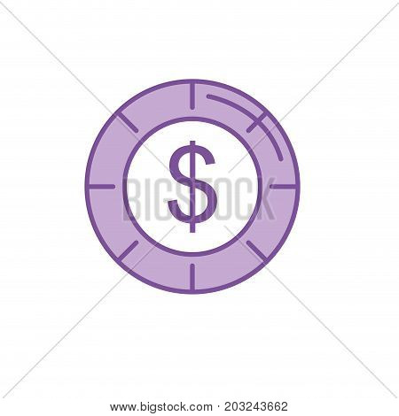 silhouette coin cash money to financial economy vector illustration