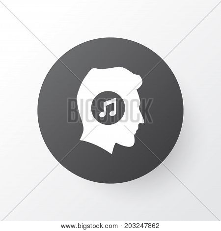 Premium Quality Isolated Meloman Element In Trendy Style.  Music Lover Icon Symbol.