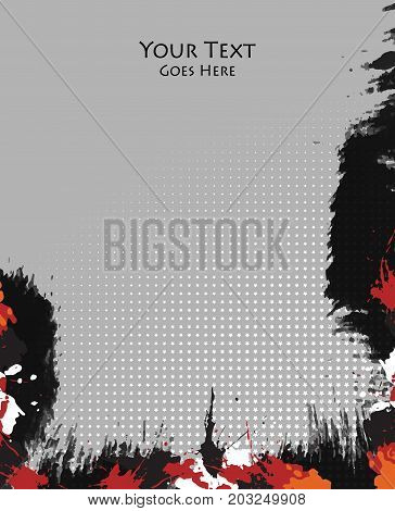 Grungy vector background. Templates for brochures, annual reports, magazines. Eps10