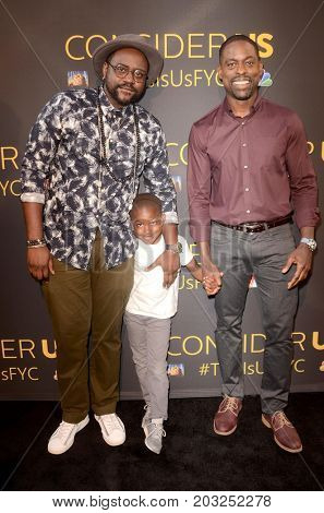 LOS ANGELES - AUG 14:  Brian Tyree Henry, Guest, Sterling K Brown at the FYC Panel Event For 20th Century Fox And NBC's